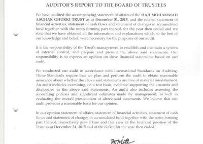Audit Report 2015 - 01